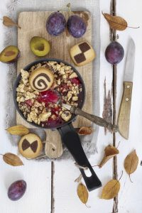 <b>? Rezept Pflaumen-Crumble mit Keksen ?</b>